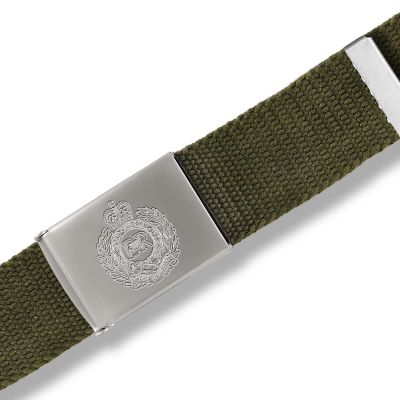 Personalised Green Canvas Belt
