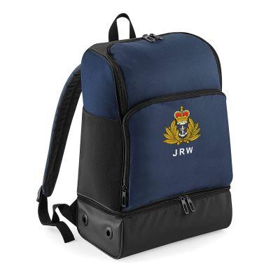 Personalised Hardbase Sports Backpack Navy Blue
