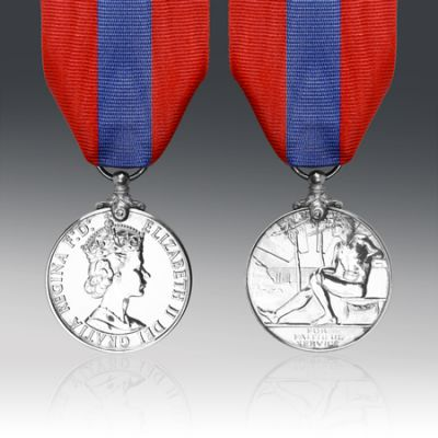 Imperial Service Medal EIIR Full Size Loose (Medal Cannot Be Engraved)
