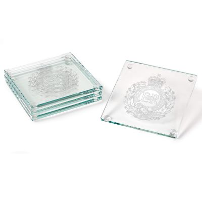 Set Of Four Personalised Jade Glass Coasters