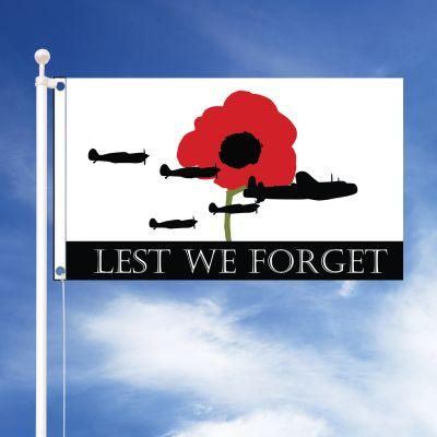 Lest We Forget RAF Flag