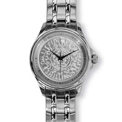 Lifestyle Mens Watch With Silver Case And Silver Bracelet