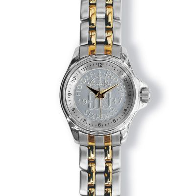 Lifestyle Ladies Watch With Silver Case And Two Toned Bracelet
