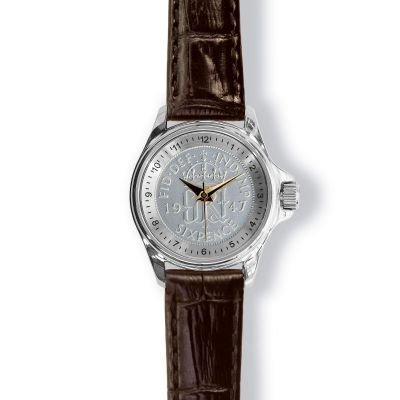 Lifestyle Ladies Watch With Silver Case And Leather Strap