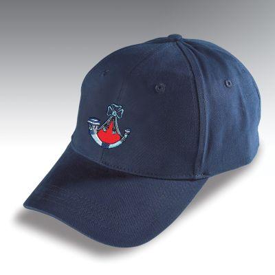 Embroidered Baseball Hat Navy Blue Light Infantry