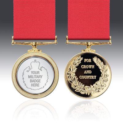 Engraved Service Medal Full Size