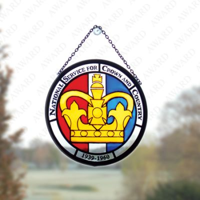 National Service Crown Stained Glass Window Decoration