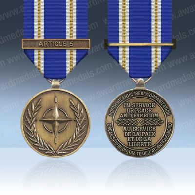 NATO Active Endeavour Full Size Medal Loose