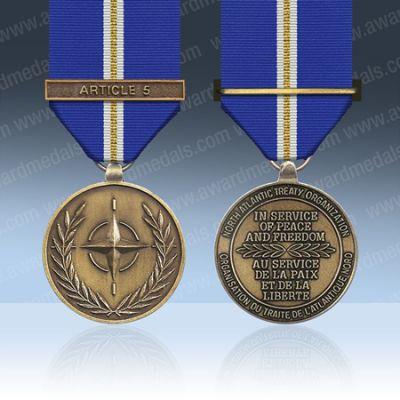 NATO Eagle Assist Full Size Medal Loose