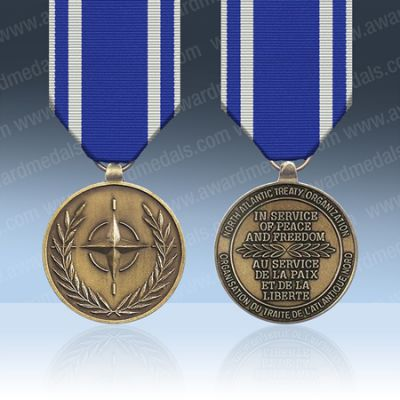 NATO Macedonia Full Size Medal Loose