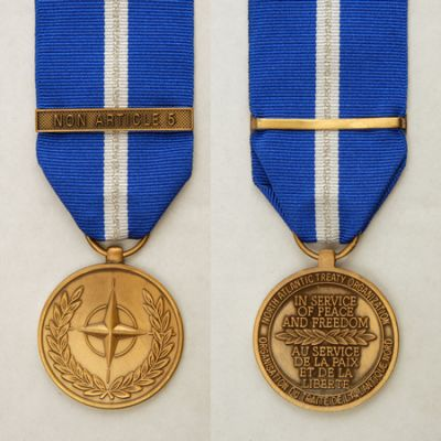 Nato Non Article 5 Full Size Medal Loose