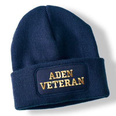 Aden Veteran Navy Blue Acrylic Beanie Hat