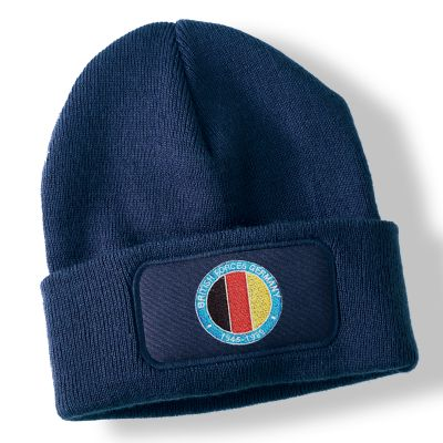 British Forces Germany Navy Blue Acrylic Beanie Hat