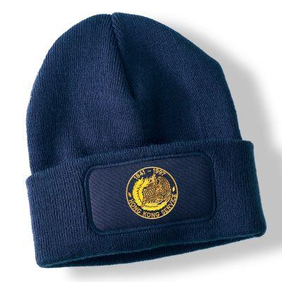Hong Kong Navy Blue Acrylic Beanie Hat