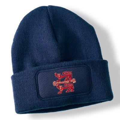 Normandy Navy Blue Acrylic Beanie Hat