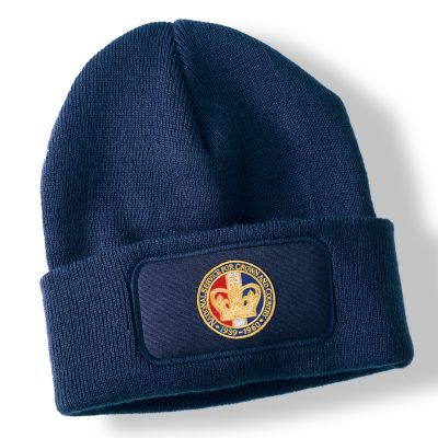 National Service Crown Navy Blue Acrylic Beanie Hat