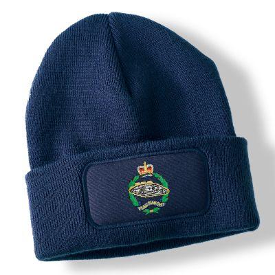 Royal Tank Regiment Navy Blue Acrylic Beanie Hat