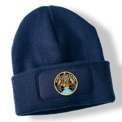 Suez Canal Zone Navy Blue Acrylic Beanie Hat