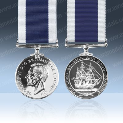 Royal Navy LS & GC GVIR Medal Full Size Loose