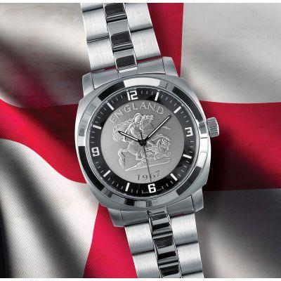 New English Patriot Watch Silver Bracelet