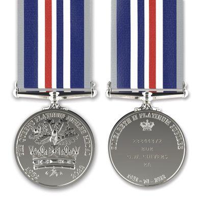 Commemorative Queen's Platinum  Jubilee Medal Full-size