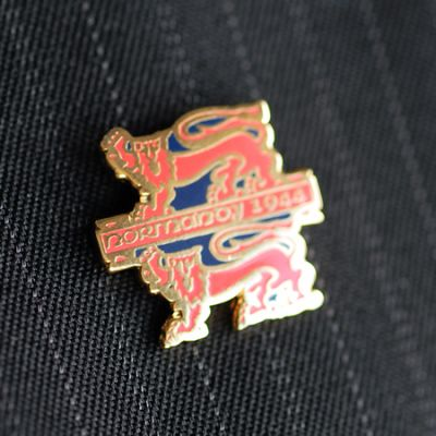 NORMANDY RED LIONS LAPEL PIN