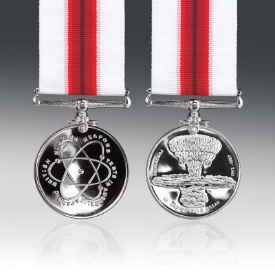 British Nuclear Weapons Tests Full Size Medal