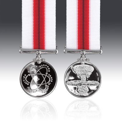 British Nuclear Weapons Tests Miniature Medal
