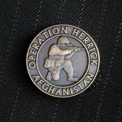 Operation Herrick Bronze Reliefed Lapel Badge