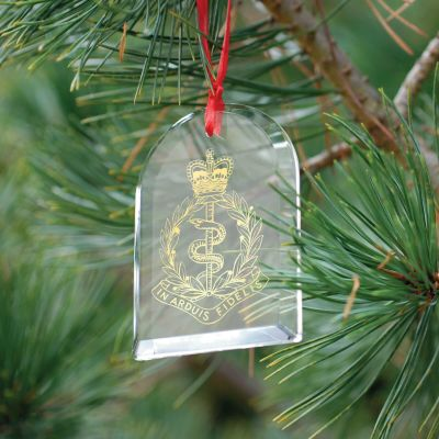 Gift Tag Crystal Glass Christmas Decoration