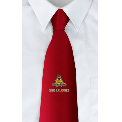 Red Personalised Clip-on Tie
