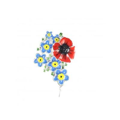 Poppy & Forget Me Nots