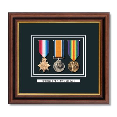 "Set Of 3 ""Pip Squeak & Wilfred"" Framed Miniature Medals"