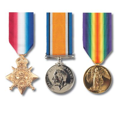"""Set Of 3 """"Pip Squeak & Wilfred"""" Miniature Medals"""