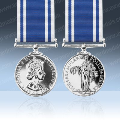 Police Exemplary Service Full Size Medal Loose