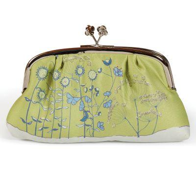 Poppy Collection - Green Silk Purse
