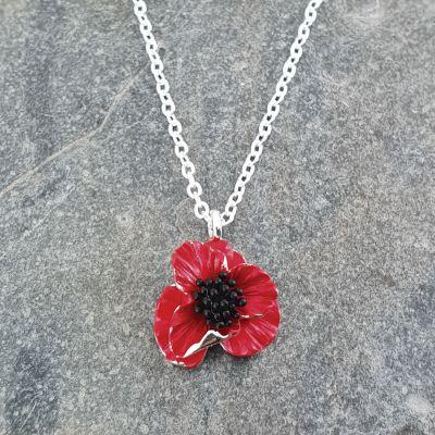 Poppy Flower Pendant