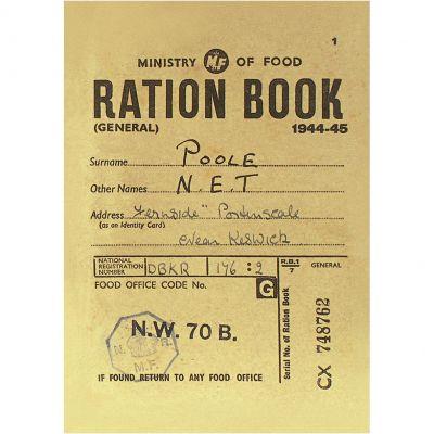 Ration Book Postcard