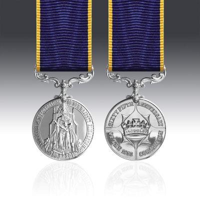 Queen Elizabeth II 65th Anniversary Coronation Miniature Medal