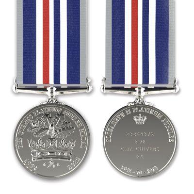 Commemorative Platinum  Jubilee Medal Full-size