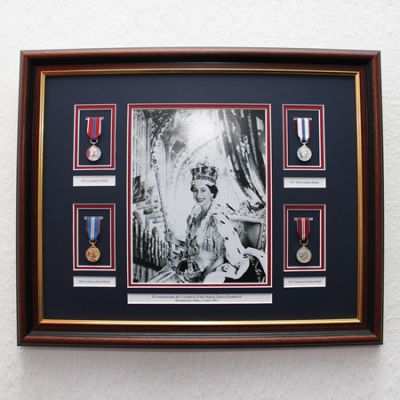 Queens Coronation Frame With Black & White Picture