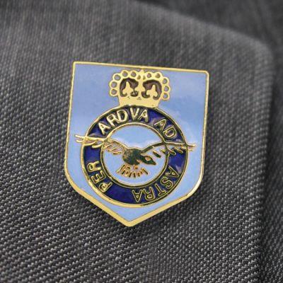 Shield Style RAF Lapel Badge