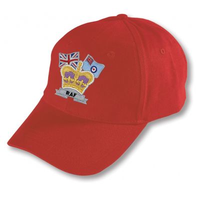 Crown & Country Embroidered Classic Red Baseball Hat