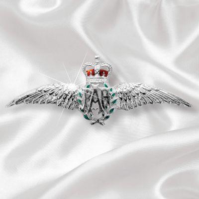 RAF Wings Silver Brooch