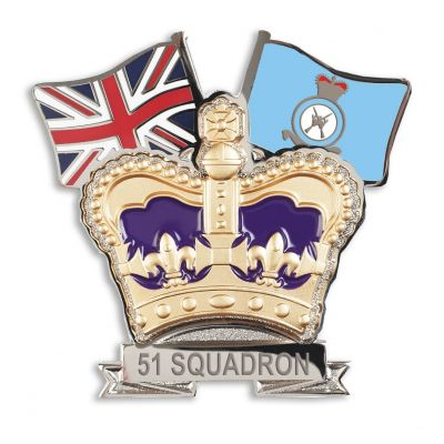 Royal Air Force Regiment Crown & Country Lapel Badge