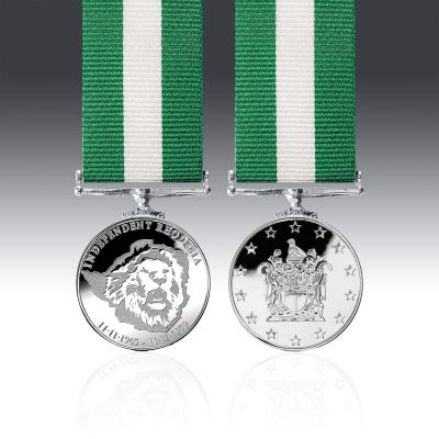 Rhodesian Independence Commemorative Miniature Medal