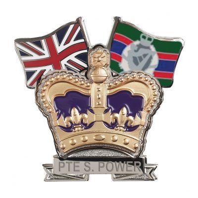 Royal Irish Regiment Crown & Country Lapel Badge