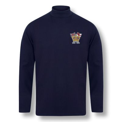 Crown & Country Henbury Navy Roll Neck Top
