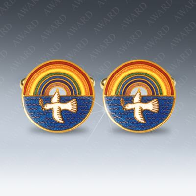 Royal Ark Mariner Masonic Cufflinks