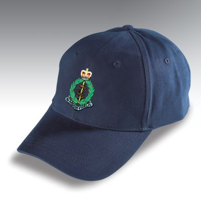 Embroidered Baseball Hat Navy Blue Royal Army Medical Corps